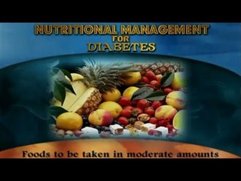 Nutritional Management for Diabetes - English