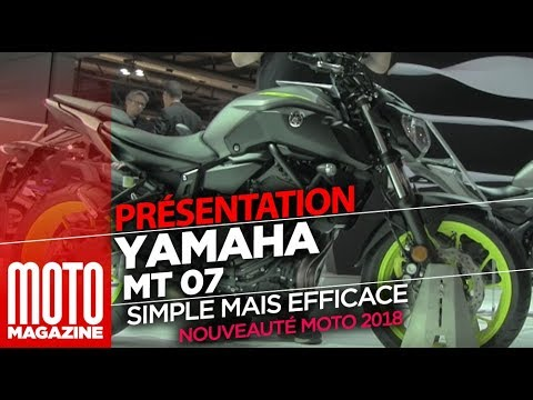 yamaha mt07 nouveaut 2018 pr sent e au salon de milan eicma 2017 youtube. Black Bedroom Furniture Sets. Home Design Ideas