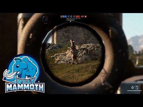 Willy Mammoth Snipes with Perfect Timing in Battlefield 1