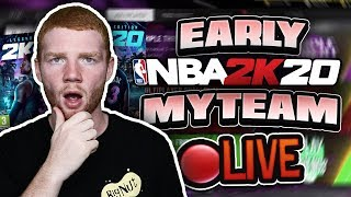 *LIVE* EARLY NBA 2K20 MYTEAM GAMEPLAY! PACKS/DOMINATION/COLLECTIONS!!