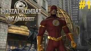 Mortal Kombat vs DC Universe PS3 Gameplay #1: The Flash [I