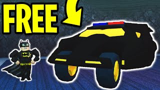 HOW TO GET the BATMOBILE or TORPEDO for FREE! NEW VEHICLES! | Roblox Jailbreak Winter Update