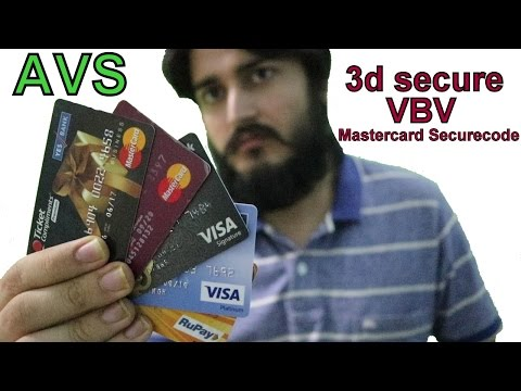Types of Payment gateways and cards !! AVS , non CVV , 3d se