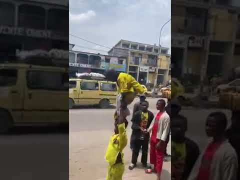 YOUNG AFRICAN  ACROBAT