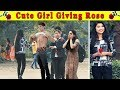 Cute Girl Giving Rose With A Twist || Epic Reactions || FUNDAY PRANKS