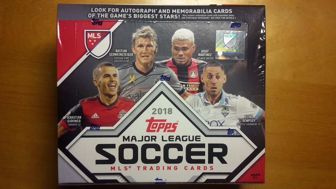 2018 Topps Mls Soccer 24 Packs Retail Box Break And Review Youtube