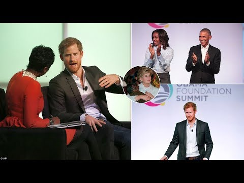 Prince Harry Calls Princess Diana His ''Ideal Role Model'' at Obama Foundation Summit
