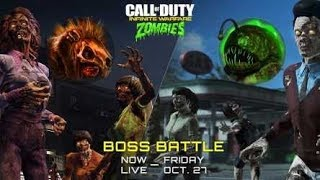 New Rat King and Crog-Zilla Boss Battles - Call of Duty Infinite Warfare Zombies