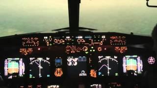 B737 FlyDubai Rostov accident modelling