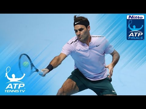 FUNNY: Federer distracted by Sock at the net | Nitto ATP Finals 2017
