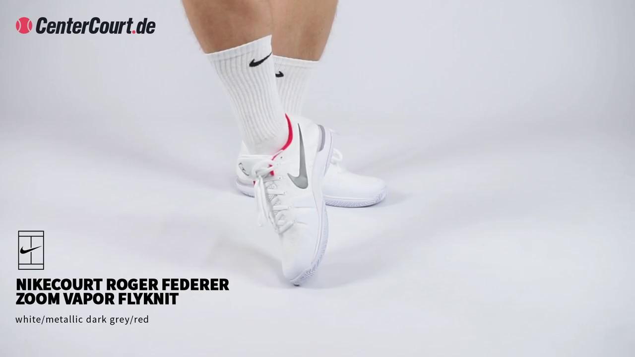 Roger Zoom Vapor Weiß In Youtube Flyknit Federer Nikecourt zq16wF1