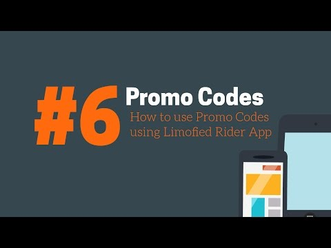 #6 How to use promo codes using Limofied Rider App