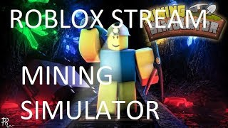 Roblox Mining Simulator | Grinding For Ban Hammer! | LEVEL 10 SHINY OOF DOGGO GIVEAWAY AT 485 SUBS!