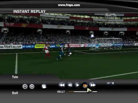 Beautiful goal by Nwankwo Kanu - FIFA07