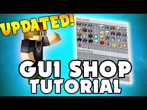 Minecraft Plugin: GUI Shop! (Virtual Shop For Players) | UPDATED