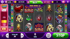 CREEPY FORTUNES SLOT MACHINE (free spins feature) - Slotomania Facebook Game