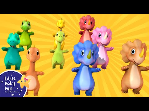 Thumbnail: Ten Little Dinosaurs | Nursery Rhymes | By LittleBabyBum!