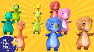 Ten Little Dinosaurs | Nursery Rhymes | By LittleBabyBum!