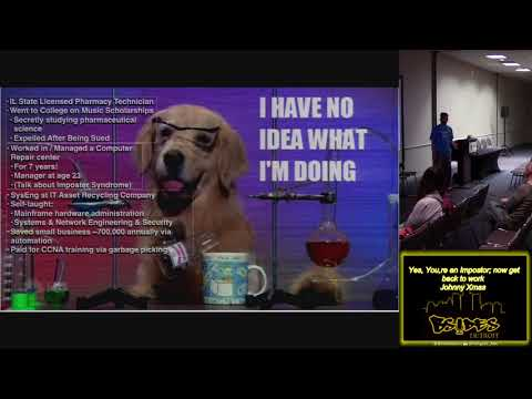 BSides Detroit 2018 100 Yes Youre an Impostor now get back to work Johnny Xmas