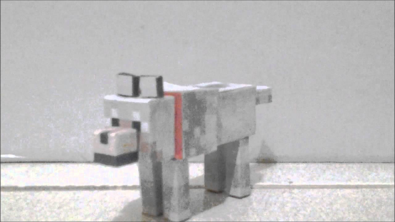 Minecraft Papercraft Wolf Amp Friends Youtube