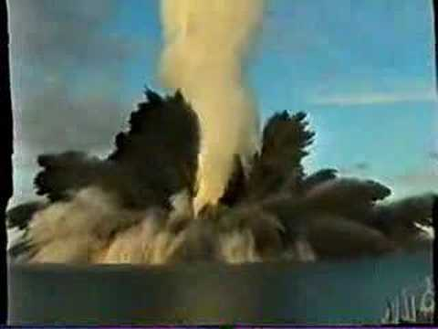 AWESOME VIDEO of depth charge explosion