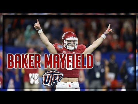 Baker Mayfield Highlights vs UTEP // 19/20 329 Yards, 3 TDs // 9.02.17