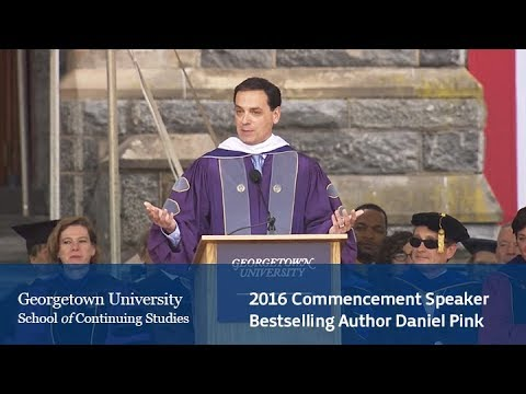 2016 Georgetown Commencement Speaker Daniel Pink