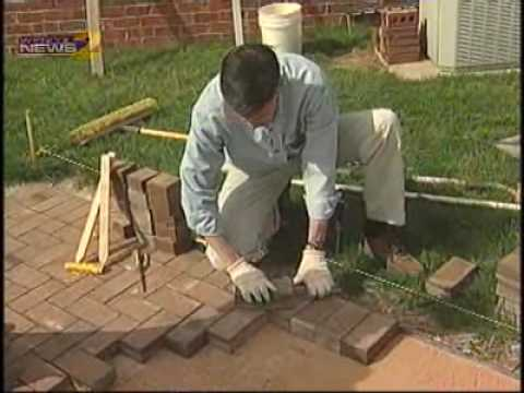 Install Your Own Brick Patio Youtube