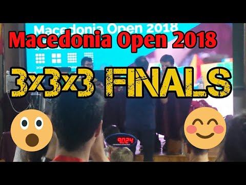 Macedonia Open 2018 3x3x3 Finals 9.76 avg 5 with 9.02 fullst