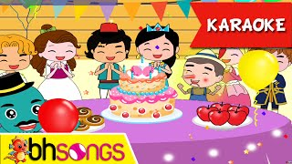 Happy Birthday karaoke song for kids | Fairytale Style | Nursery Rhymes | Ultra HD 4K Music Video