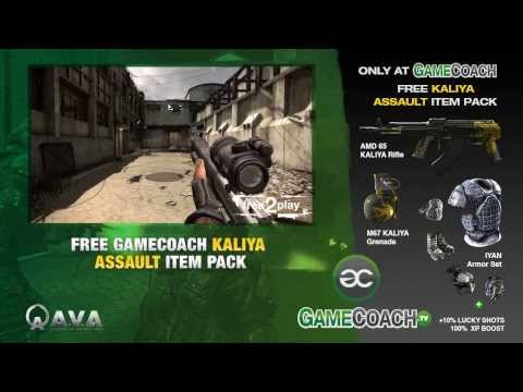 Free Kaliya Assault Packs for Alliance of Valiant Arms (A.V.A) at GameCoach.tv!