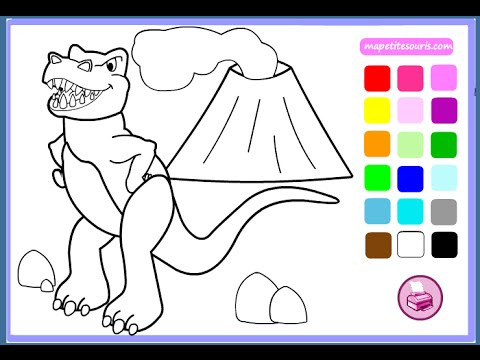 Dinosaur Coloring Pages For Kids - Dinosaur Coloring Pages Games - coloring dinosaur