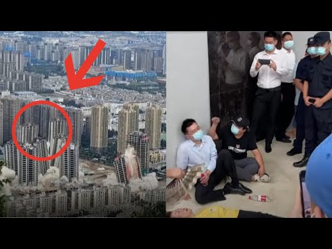 CHAOS ERUPTS IN CHINA! Worlds Biggest Housing Bubble Literally Collapses