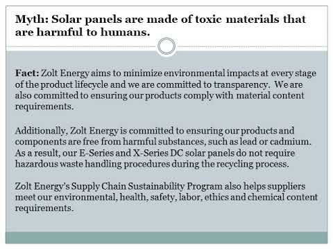 Three facts about Sustainable Solar Energy