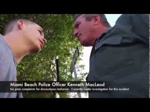 Miami Beach Police Officer Loses Mind, Goes on F-Bomb Tirade