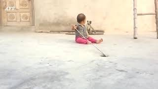 Monkey trying to play with small kid Animals funny video
