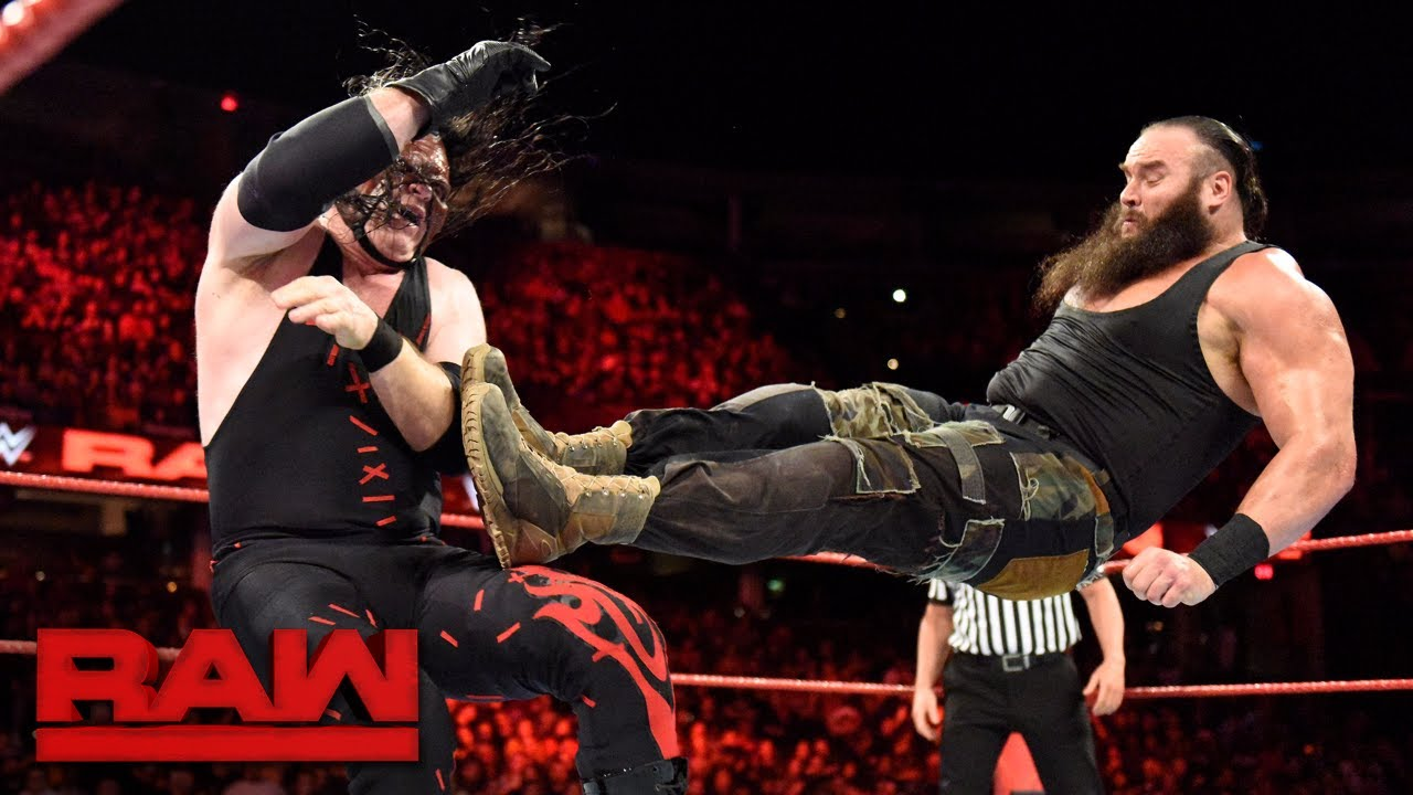 Braun Strowman vs. Kane - Winner Challenges for Universal Title at Royal Rumble: Raw, Dec. 11, 2017