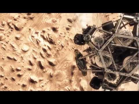 Mars landing simulation by NASA