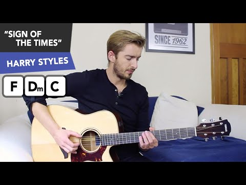 Harry Styles - Sign Of The Times Guitar Lesson Tutorial EASY Chords + No Capo