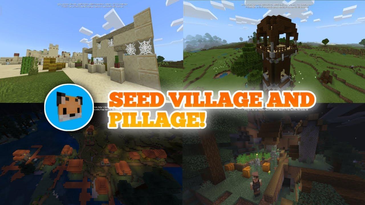 Minecraft pe 122.1225 seed village and pillage - Mcpe 122.1225 seed zombie village!  Best Seed Minecraft pe!