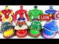 #2 Marvel Avengers Hulk, Spider Man And Terrible Crocodile, Dinosaur Surprise Egg   DuDuPopTOY