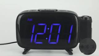 ELEHOT Projection Alarm Clock Radio Alarm Clock Digital Clock with Power Adapter Alarm Clocks