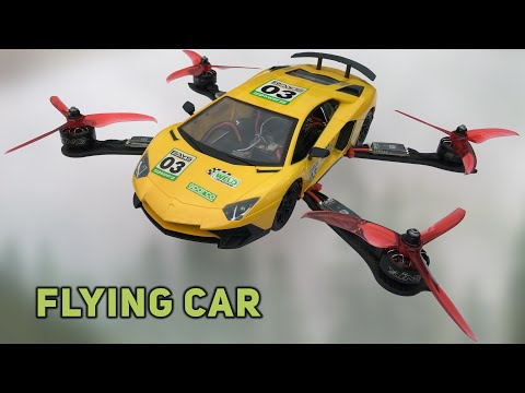 Chế Xe Lamborghini BAY Điều khiển từ xa | How To Make a Helicopter CAR - Drone Car