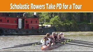 Scholastic rowers take Plain Dealer out for river tour