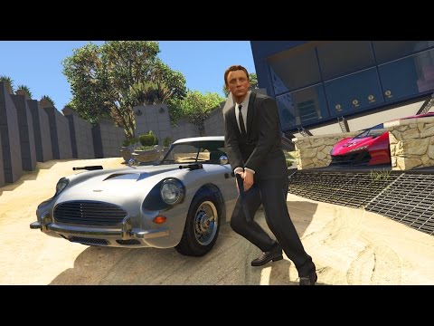 GTA 5: ULTIMATIVE JAMES BOND MOD ! - AGENT 007 AUTO & VILLA