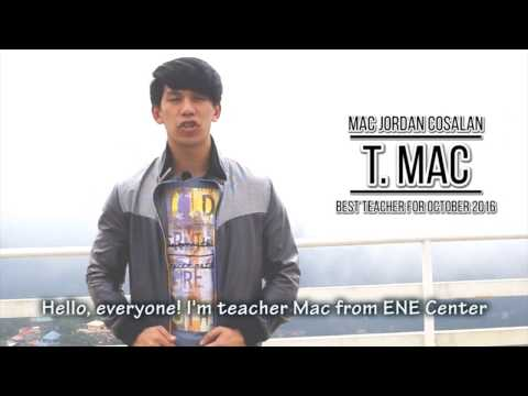 TALK Academy T. MAC is the best teacher for October 2016 - ENE Center