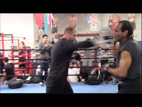 CRUSHING POWER!! - SERGEY KOVALEV EXPLOSIVE PAD WORK W/ TRAIN JOHN JACKSON AHEAD OF KOVALEV WARD 2