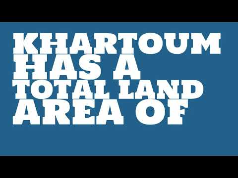 What is the population of Khartoum?