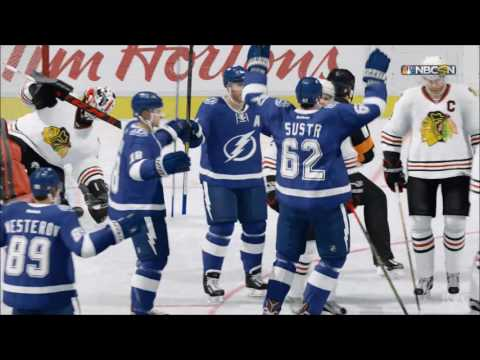 NHL 17 - Chicago Blackhawks vs Tampa Bay Lightning | Gameplay (HD) [1080p60FPS]