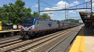 Amtrak HD 60fps: High Speed 125 MPH Train Action @ Princeton Junction w/ ACS-64 Veterans Unit 642
